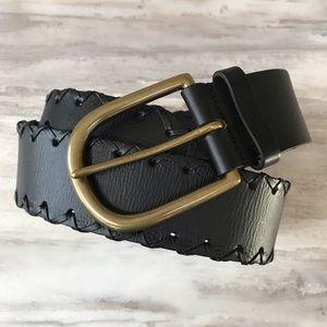 1969 GAP JEANS Black Genuine Leather Belt-Small